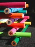 Pastelli impilati della matita Fotografie Stock Libere da Diritti