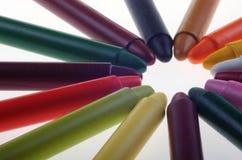 Pastelli multicolori dell'olio fotografia stock