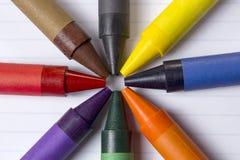 Pastelli nel cerchio Fotografia Stock