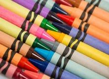 Pastelli nella disposizione diagonale Fotografia Stock Libera da Diritti
