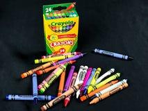 Pastelli nuovissimi di Crayola Fotografia Stock Libera da Diritti