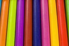 Pastelli pastelli variopinti, primo piano Immagini Stock
