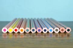 Pastelli sulla tavola Fotografie Stock
