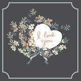 Pastellkarte Greetig mit Liebe Lizenzfreies Stockbild