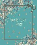 Pastellkarte Greetig mit Rahmen für den Text Lizenzfreie Stockbilder