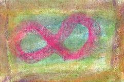 Pastello: Figura otto, o un cenno del capo verso il Infini Fotografia Stock Libera da Diritti