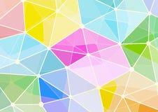 Pastellpolygonform mit Verbindungspunkten und Linien Hintergrund Lizenzfreie Stockbilder