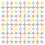 Pastellregenbogen Argyle Sternchen-Vereinbarung lizenzfreie abbildung