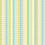 Pastellstreifen mit verschiedenen Mustern Stockbild