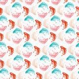 Pastellvölker Art Floral, Weinlese-Art-Wiederholungs-Muster vektor abbildung