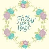 Pastelowa kwiecista rama z peoniami i różami i Ilustracja Wektor