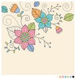 Pastelowa wiosna kwitnie tło Obrazy Stock