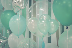 Pastelowego koloru balony obrazy stock