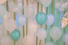 Pastelowego koloru balony zdjęcie stock