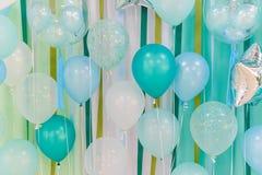 Pastelowego koloru balony zdjęcia royalty free