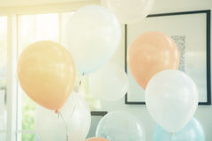 Pastelowego koloru balony obraz stock