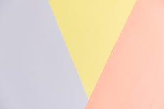Pastelowego koloru papieru tekstury tło Abstrakcjonistyczny geometryczny papierowy tło trendów kolory Kolorowy miękka część papie Zdjęcia Royalty Free