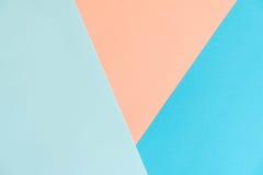 Pastelowego koloru papieru tekstury tło Abstrakcjonistyczny geometryczny papierowy tło trendów kolory Kolorowy miękka część papie Fotografia Royalty Free