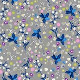 Pastelowego swoboda kwiatu bezszwowy wzór, elegancki delikatny modny i ilustracji