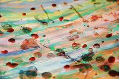 Pastelowej akwareli abstrakcjonistyczny tło z woskowatymi punktami Obraz Royalty Free