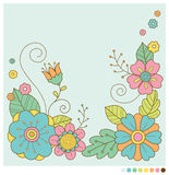 Pastelowej wiosny kwiatów śliczny tło Obraz Stock