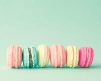 Pastelowi francuscy macarons Obrazy Stock