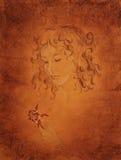 pastelowi portreta kobiety potomstwa Fotografia Royalty Free
