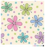 Pastelowi wiosna kwiaty Fotografia Royalty Free