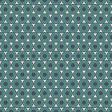 Pastelowy błękitny bezszwowy wzór z częstotliwymi okręgami Bąbla motyw geometryczny abstrakcjonistyczny tło Nowożytna nawierzchni royalty ilustracja