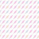 Pastelowy błyskawicowego rygla bezszwowy wzór Obrazy Stock