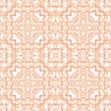 Pastelowy Barwiony Monochromatyczny Koralowy kalejdoskop Odzwierciedlający krawata barwidła Shibori kwadrata płytki tła Wektorowy ilustracja wektor