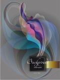 Pastelowy barwiony skład na popielatym tle, barwiącym fala ilustracji