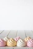 Pastelowy beza Frontowego widoku Vertical Fotografia Stock