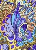 Pastelowy bezszwowy wzór w fantastycznym morskim temacie Zdjęcie Stock