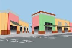 pastelowy centrum handlowe pasek Fotografia Royalty Free