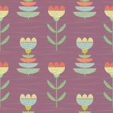 Pastelowy kolor kwitnie z textured tkaniny spojrzeniem Wektorowy bezszwowy wzór na różanym purpurowym tle z subtelną ręką rysując ilustracja wektor