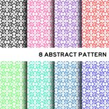 8 pastelowy kolor podstawowy abstrakcjonistyczny kwiatu wzór Zdjęcie Stock