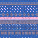 Pastelowy słodki wzór mieszający pastelu geometryczny i ręka rysujący li zdjęcia stock