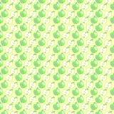 Pastelowy symetryczny tło z elementami jabłka ilustracji