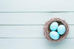 Pastelowy Wielkanocnych jajek tło Wiosny greating karta Obraz Royalty Free