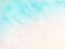 Pastelowy wodnego koloru tło Fotografia Royalty Free