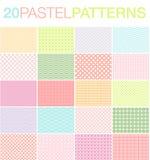 20 Pastelowych wzorów ilustracja wektor