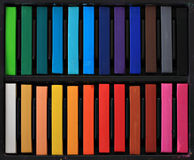 Pastels. Soft studio pastels for artists Royalty Free Stock Photos