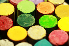Pastels 3 de couleur Photos libres de droits