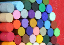 Pastels. A a selection of color pastels Royalty Free Stock Photography