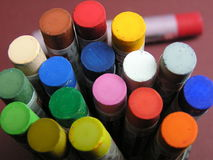 Pastels colorés Image libre de droits