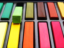 Pastels colorés d'artiste Photo libre de droits