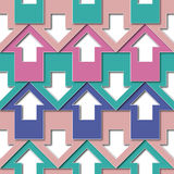 Pastels color arrows pattern Royalty Free Stock Images