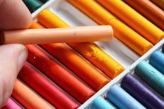 Pastels oil art picking Stock Images
