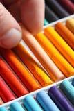 Pastels oil art picking Royalty Free Stock Photo